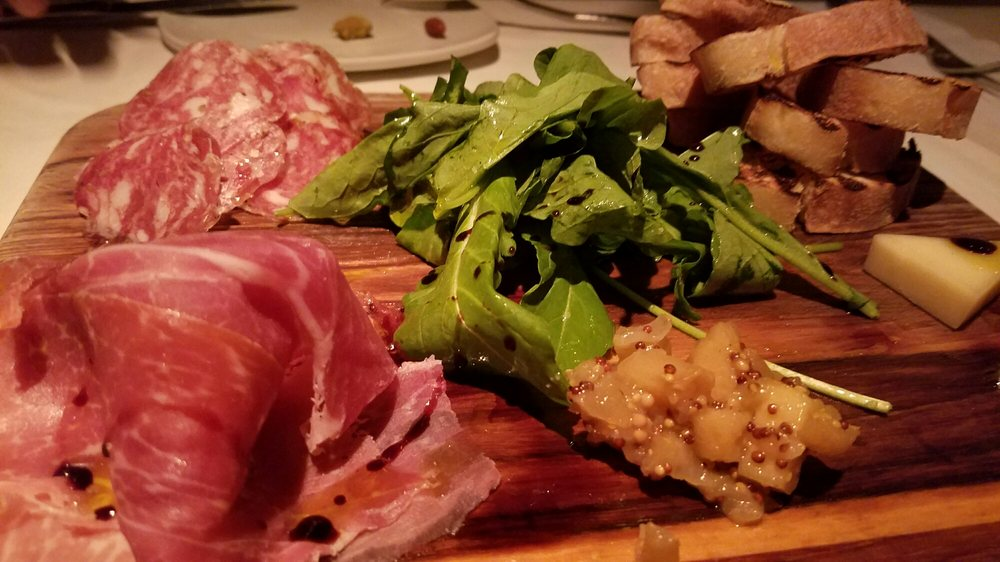 Meat and cheese platter. There's a fancy name to it but I ...