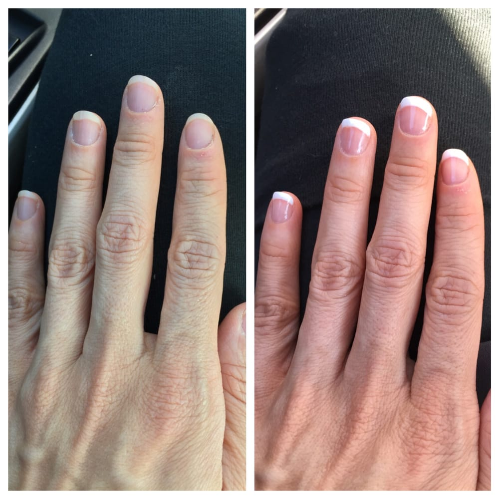 Photo Of Heavenly Nails Lynnwood Wa United States Before And After Shellac