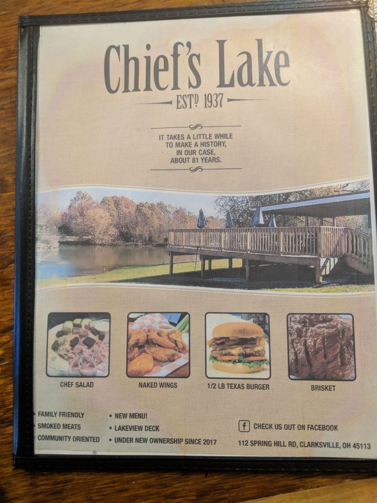 Chief's Lake: 112 S Clarksville Rd, Clarksville, OH