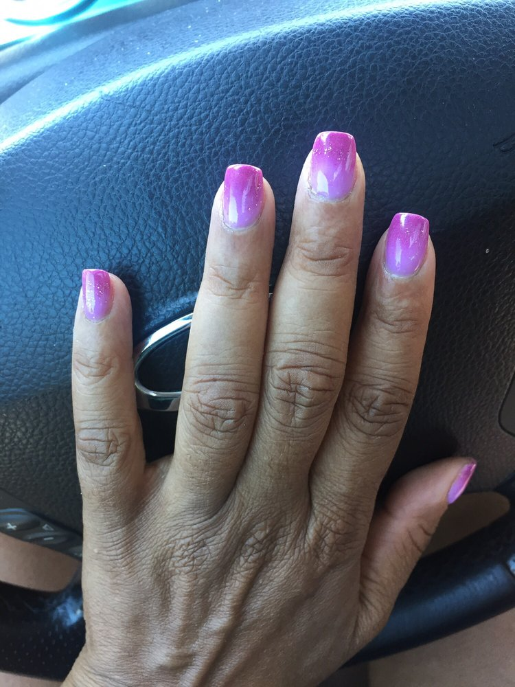 Beautiful NextGen ombré nails, fun summer Color combo - Yelp