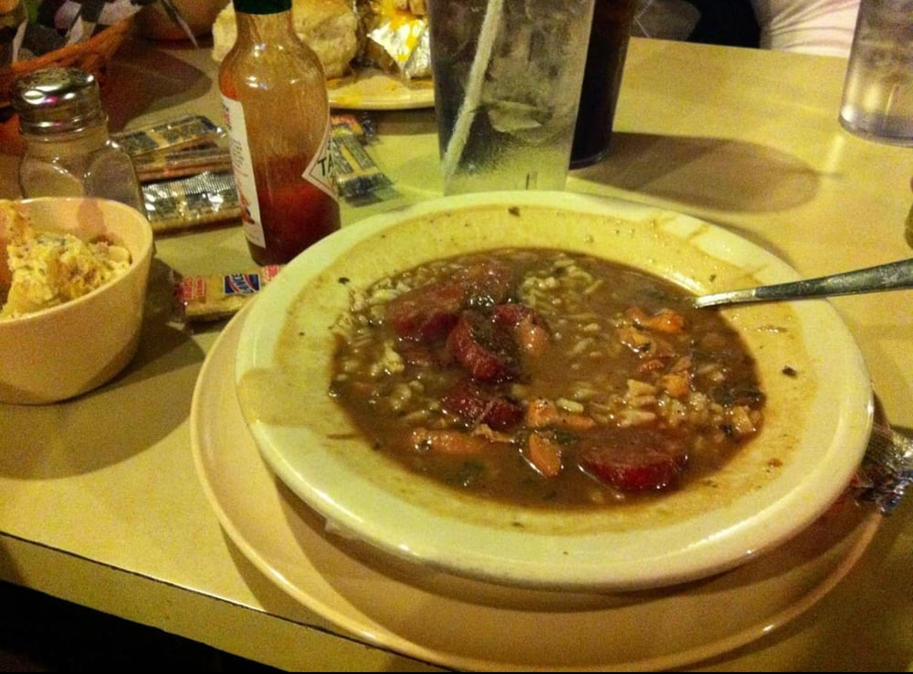 A yummy large bowl of gumbo so good yelp for Kd s restaurant