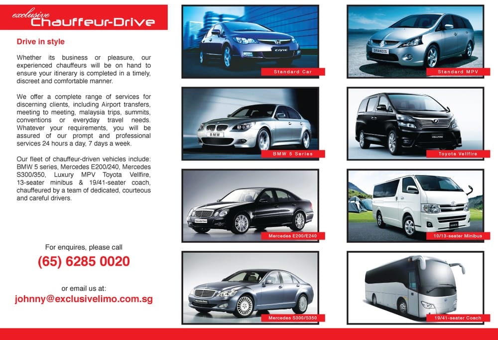Exclusive Limo & Car Rentals Singapore