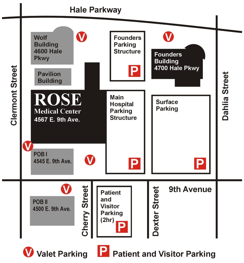 Rose Medical Parking Map, we are located in the Wolf Building - Yelp