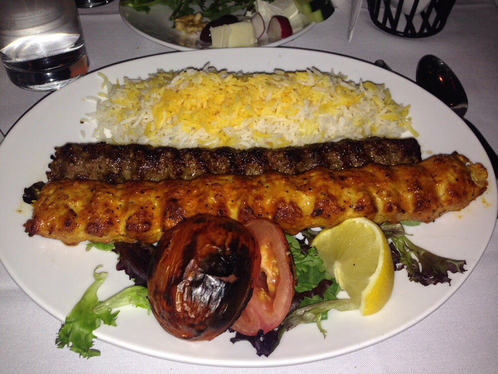 The chicken barg and beef koobideh kebabs were delicious for 1001 nights persian cuisine groupon