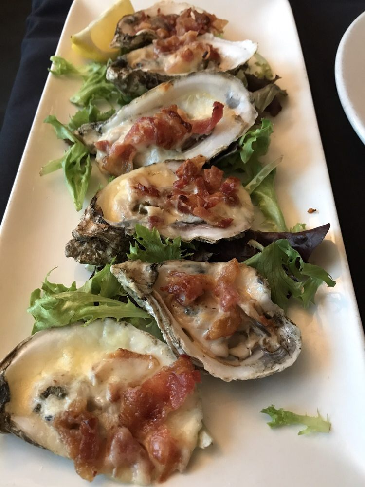 Bacon stuffed oysters yelp for Blue fish restaurant and oyster bar