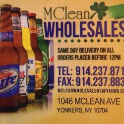McLean Wholesale Beverage - Beer, Wine & Spirits - 1046 McLean Ave