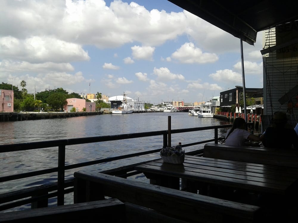 The view from the dining area south yelp for Garcia s seafood grille fish market miami fl