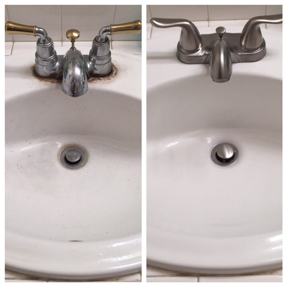 Replaced old fixtures in the bathroom with updated ones. - Yelp