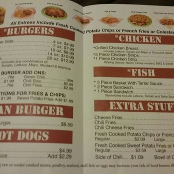 Photo Of Brown Bag Burger Prescott Az United States Menu