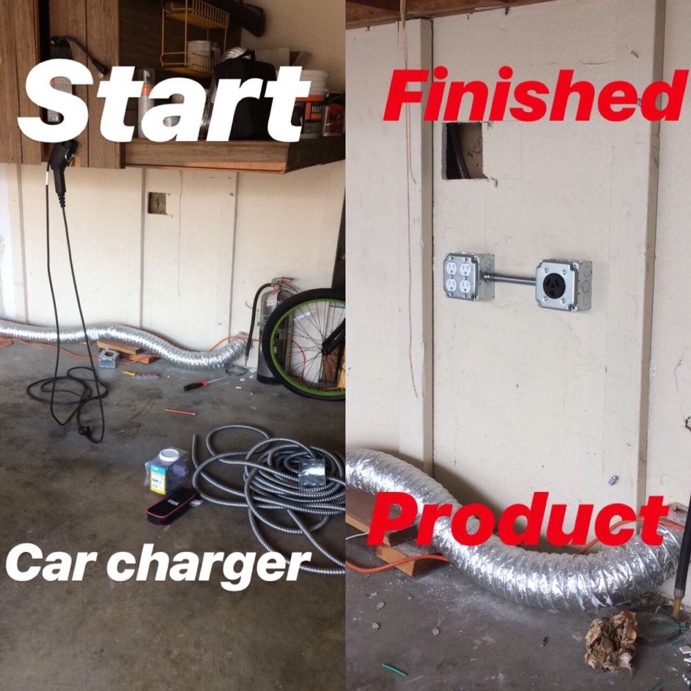 Before and after of a 30Amp 220V Receptacle and 120V Receptacles ...