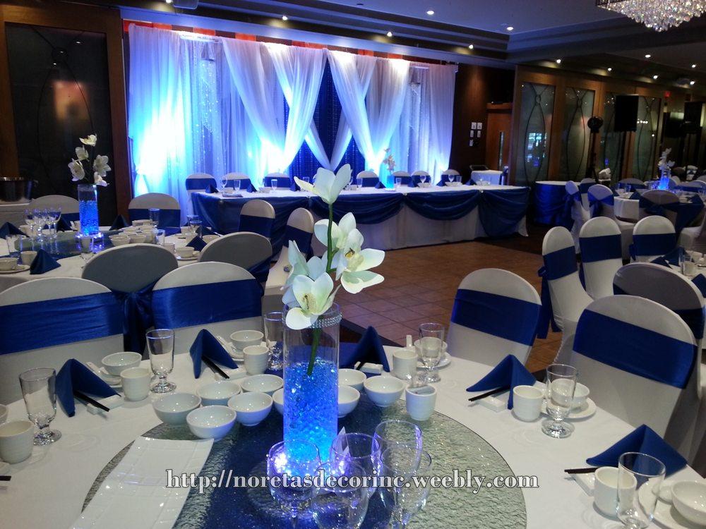 Royal Blue Wedding Reception Decoration By Noretas Decor Inc Yelp
