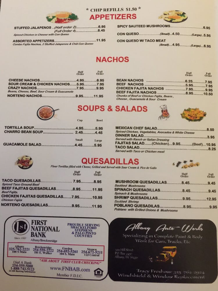 Los Cazadores Mexican Grill: 233 N Main St, Albany, TX