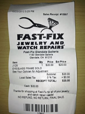 Fast Fix Jewelry And Watch Repairs 1190 Glendale Galleria Ca Repair Mapquest