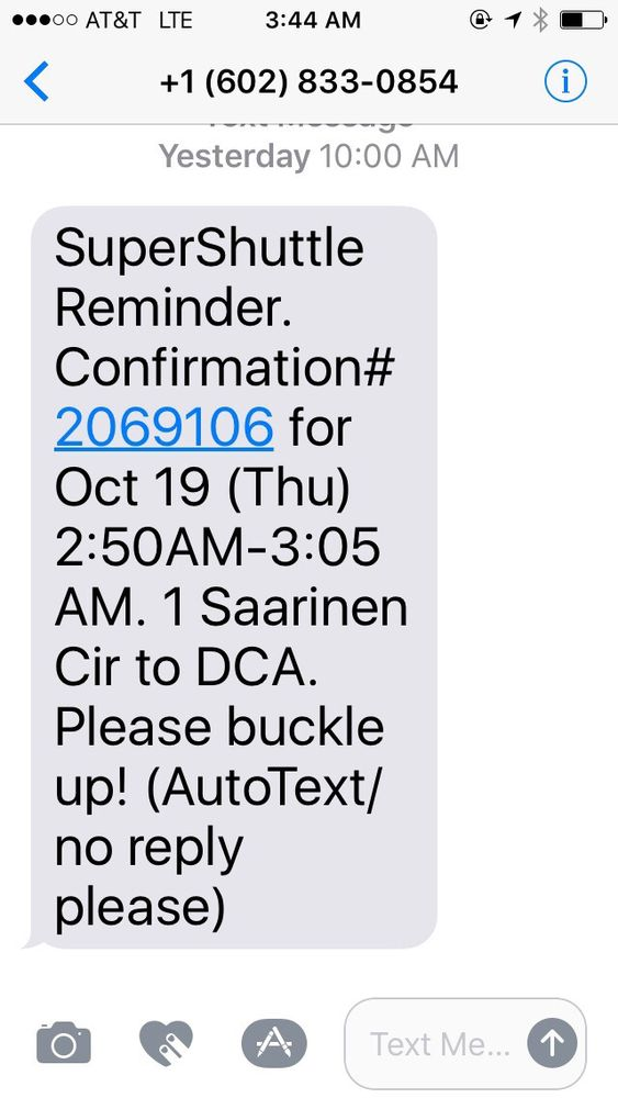 Super Shuttle: Dulles, VA
