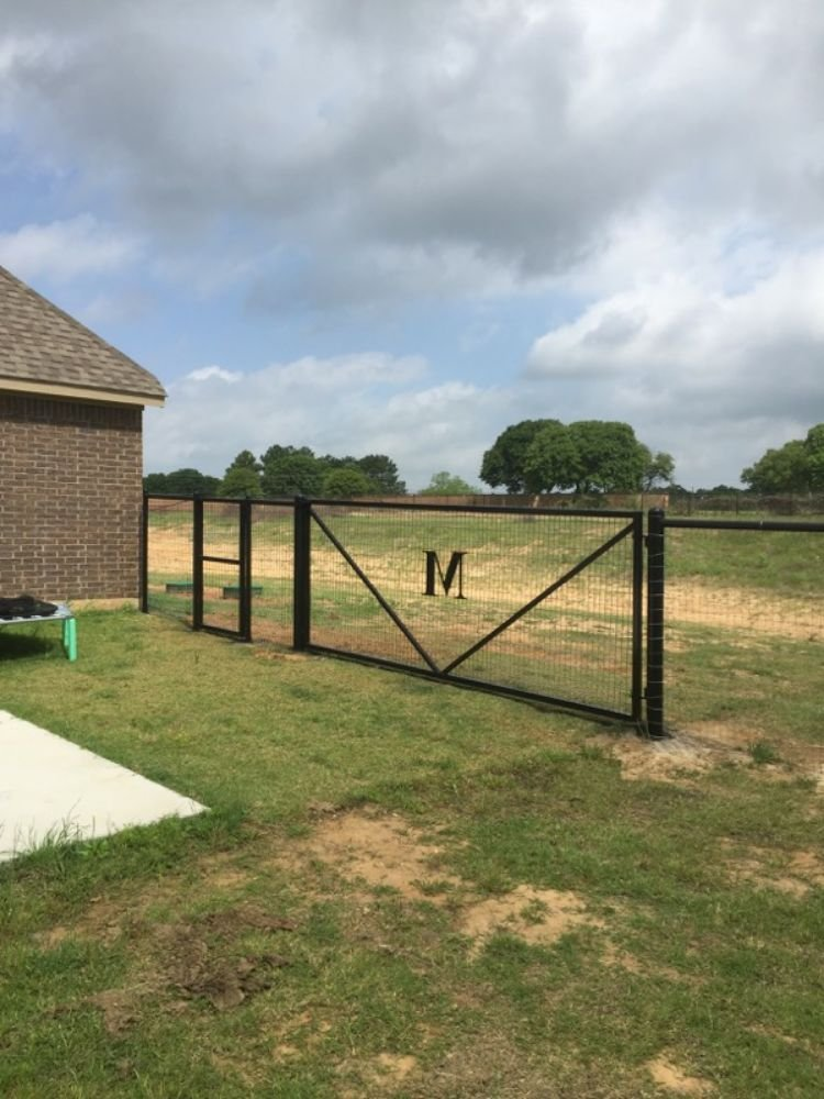 Here is a gate out of 2 inch square tubing fabricated for a