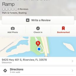 Riverview Florida Map.Williams Park And Boat Ramp Parks 9425 Hwy 401 S Riverview Fl
