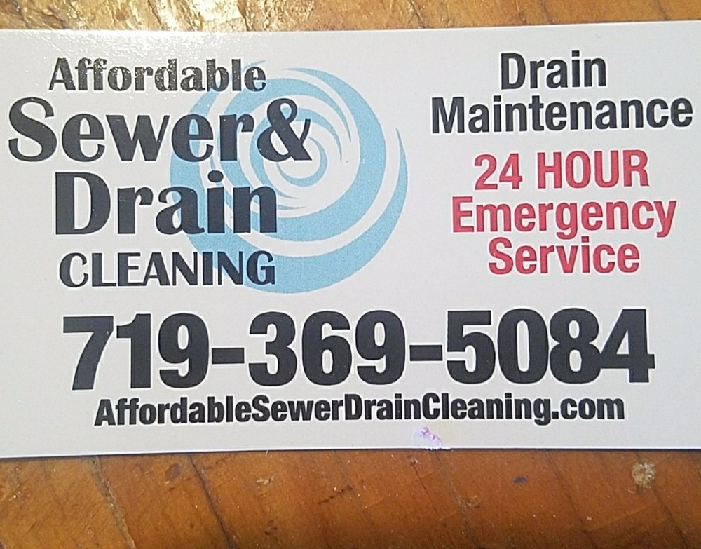 Affordable Sewer & Drain Cleaning: 27907 Hillside Rd, Pueblo, CO