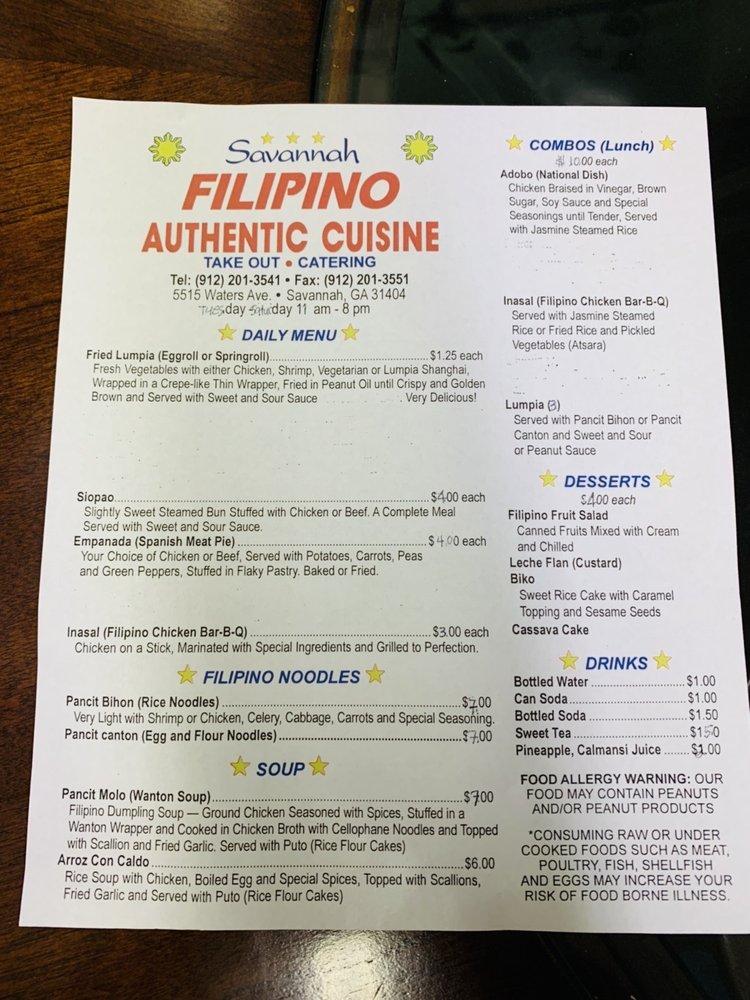 Savannah Filipino Authentic Cuisine - (New) 83 Photos & 63