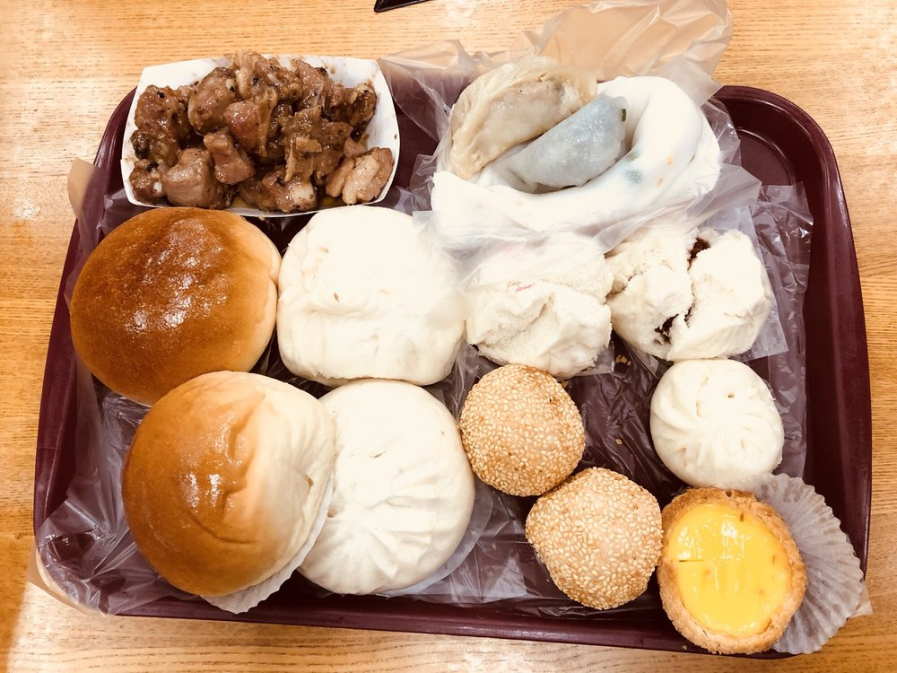 Food from Good Luck Dim Sum