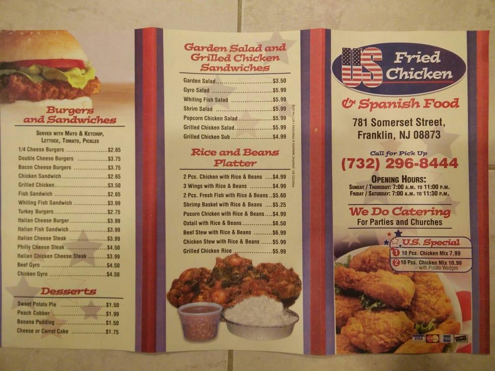 Us Fried Chicken Spanish Food Chicken Shop 781 Somerset St