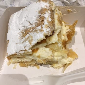 Stand Up Flaky Pastry And Cream Cake