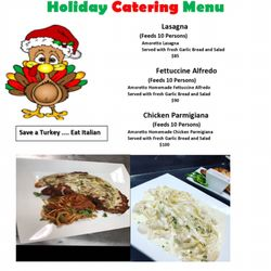 Photo Of Amoretto Italian Restaurant Plano Tx United States Holiday Catering Menu