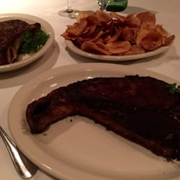 The River Palm Terrace - Edgewater, NJ, United States. Perfection steak and cottage fries