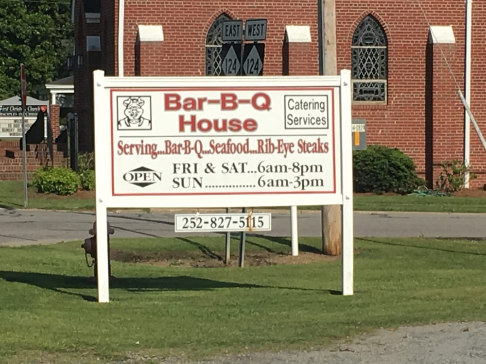 Bar-B-Q House: 114 E Green St, Macclesfield, NC