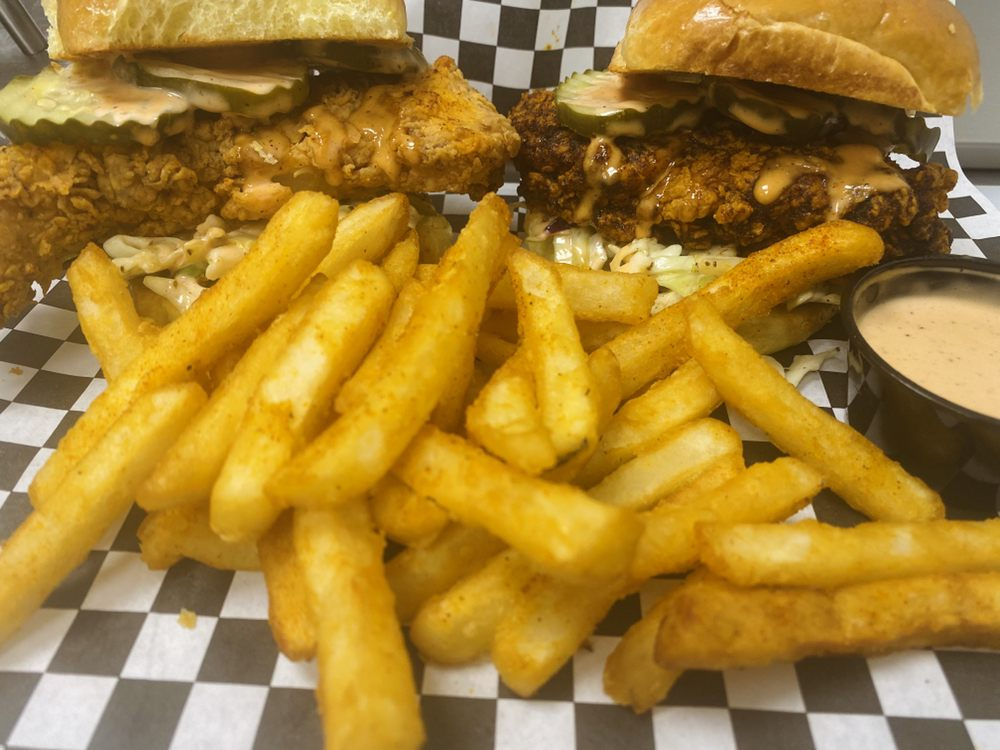 Food from Crazi's Hot Chicken
