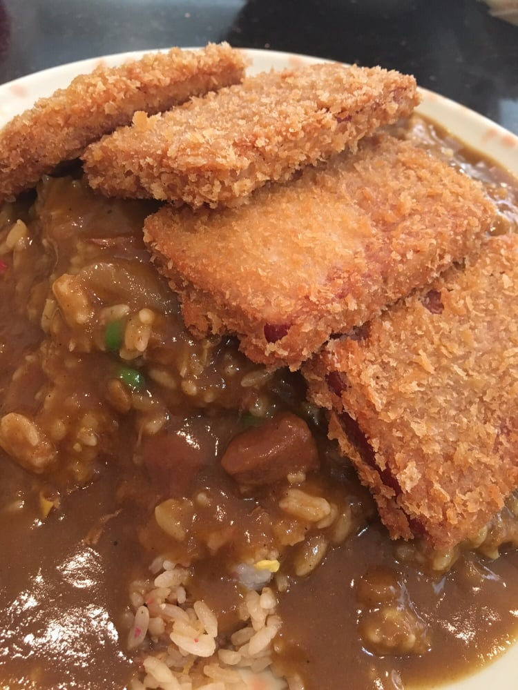 Spam Katsu Curry With Fried Rice For My Son Yelp