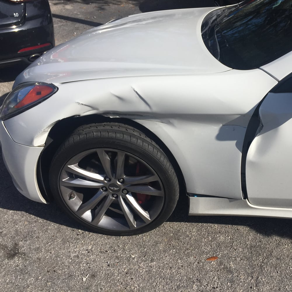They damaged my car at HYUNDAI of Orange park where I work . Hit it ...