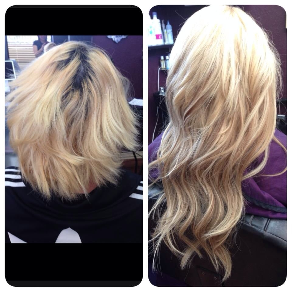 Touched Upfixed Color Then Added Klix Hair Extensions Yelp
