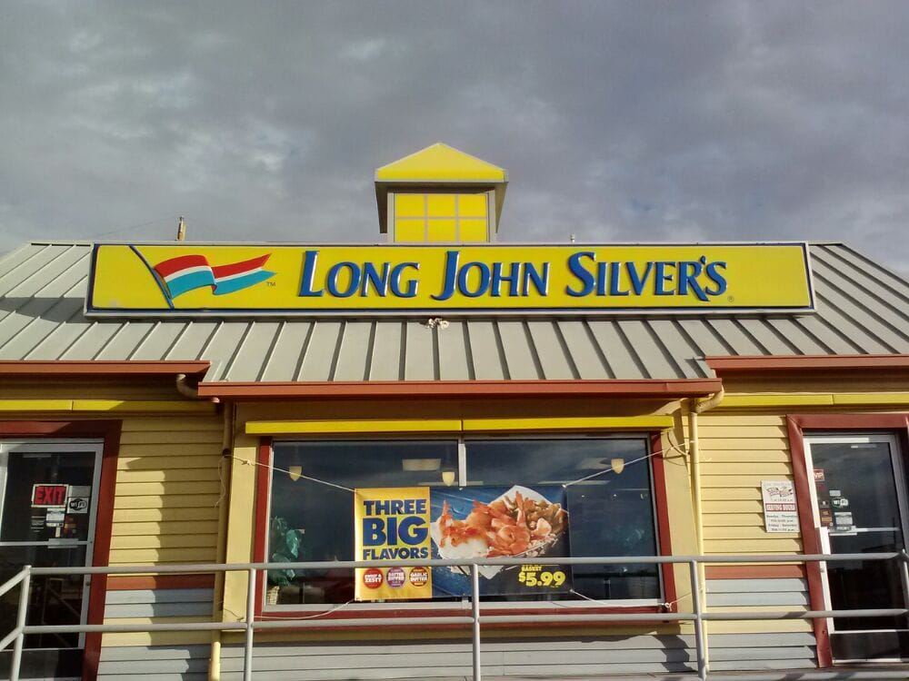 Long john silver s seafood 1104 n yarbrough dr el for What kind of fish does long john silver s use