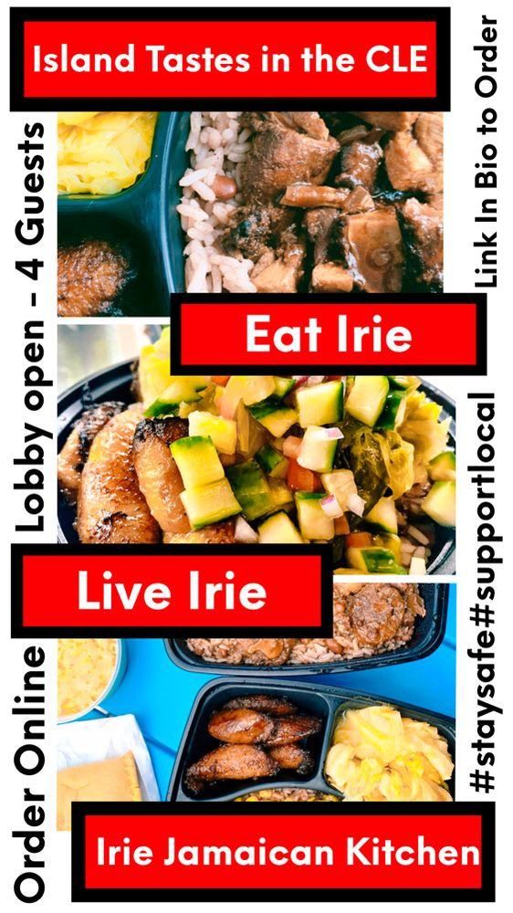 Food from Irie Jamaican Kitchen