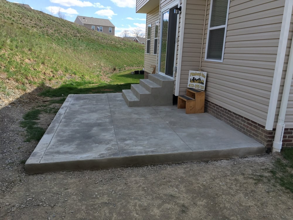 Concrete Patio With Concrete Steps Front Concrete Steps