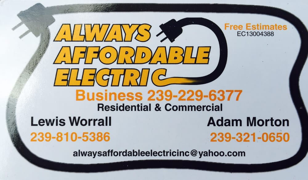 Always Affordable Electric: 2218 NE 4th St, Cape Coral, FL
