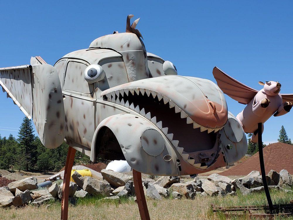Large Junk Sculptures: 22244 Cassel Rd, Cassel, CA