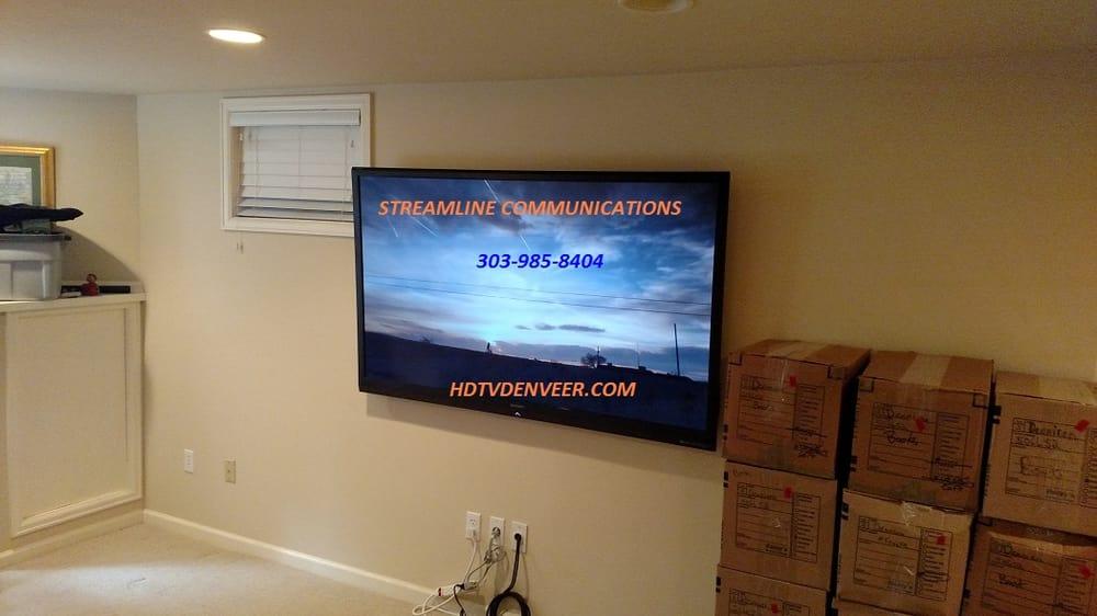 Photo Of Streamline Communication Denver Co United States Tv Wall Mount Install