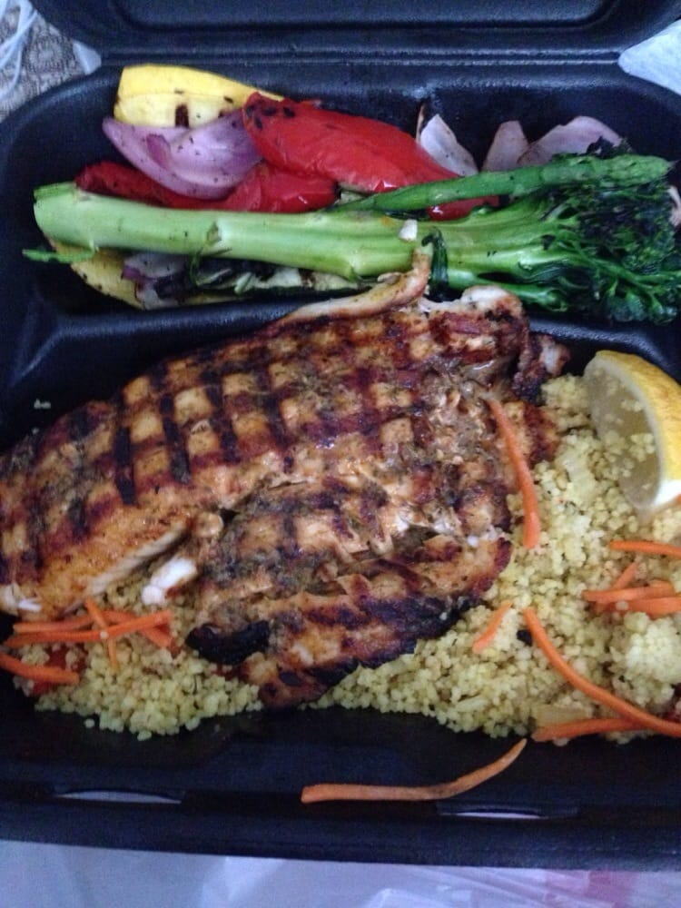 Grilled tilapia with veggies and couscous yelp for Bluesalt fish grill