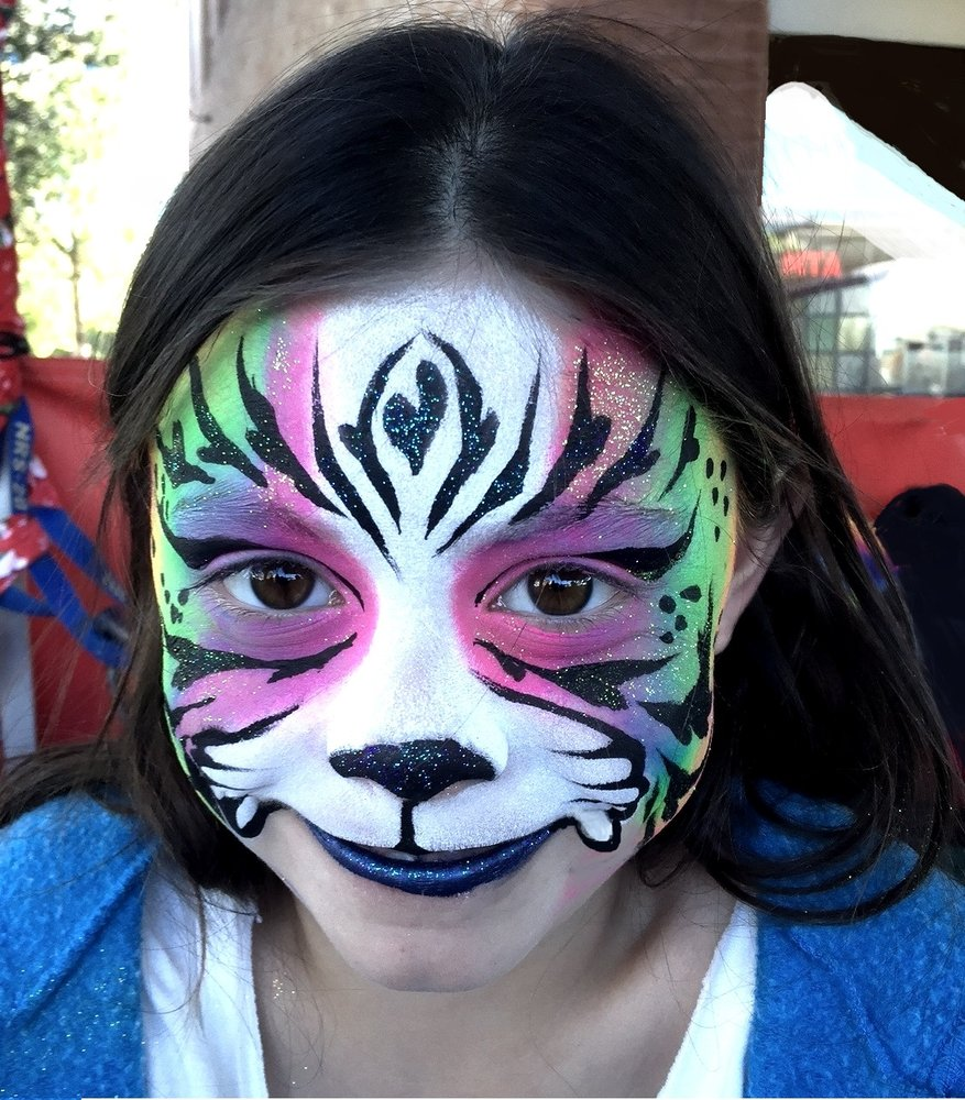 Tempe Festival of the Arts Rainbow Tiger Face Painting 3