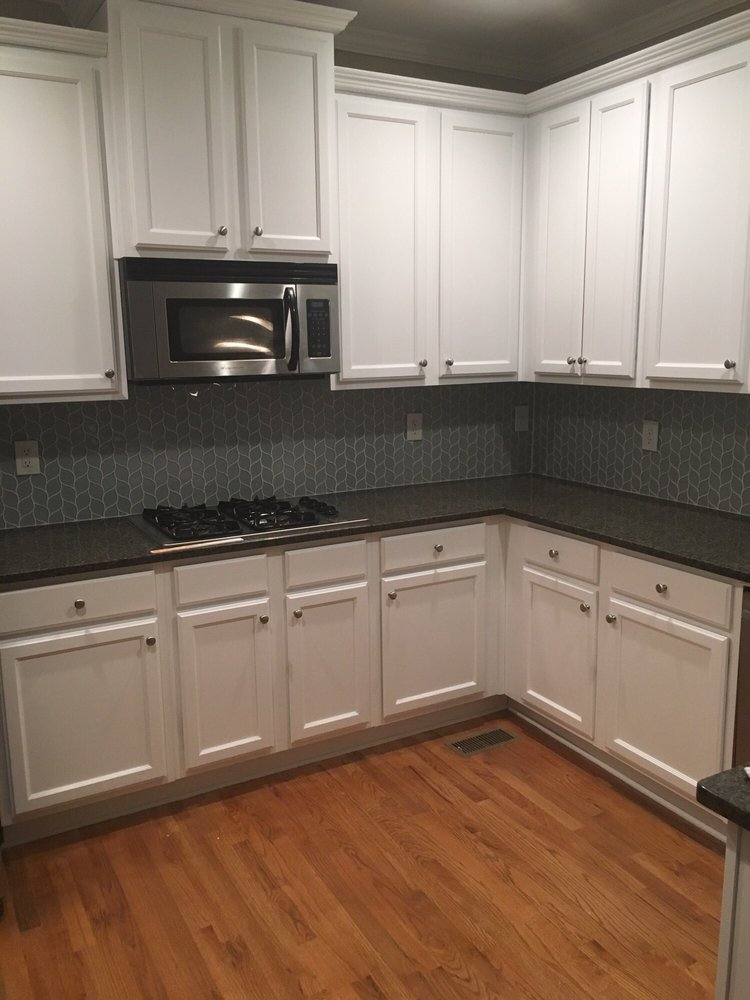 Kitchen Cabinets Painted W Distant Grey Yelp