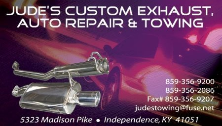 Jude's Custom Exhaust Auto Repair & Towing: 5323 Madison Pike, Independence, KY