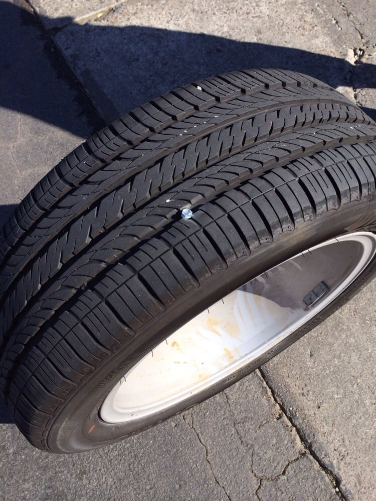 Nail in my tire :( - Yelp