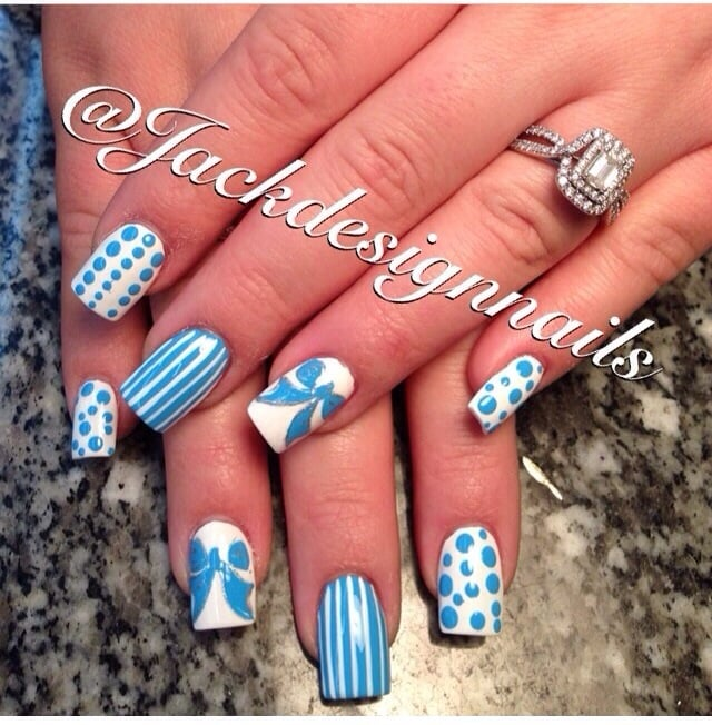 My Beautiful Baby Shower Nails From Jack Design Nails Yelp