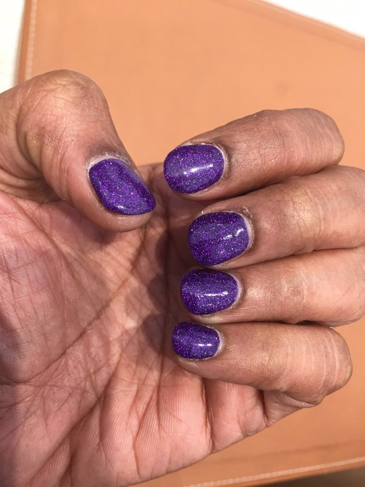 SNS mani by Tye on my own nails.... love it except for the gap ...