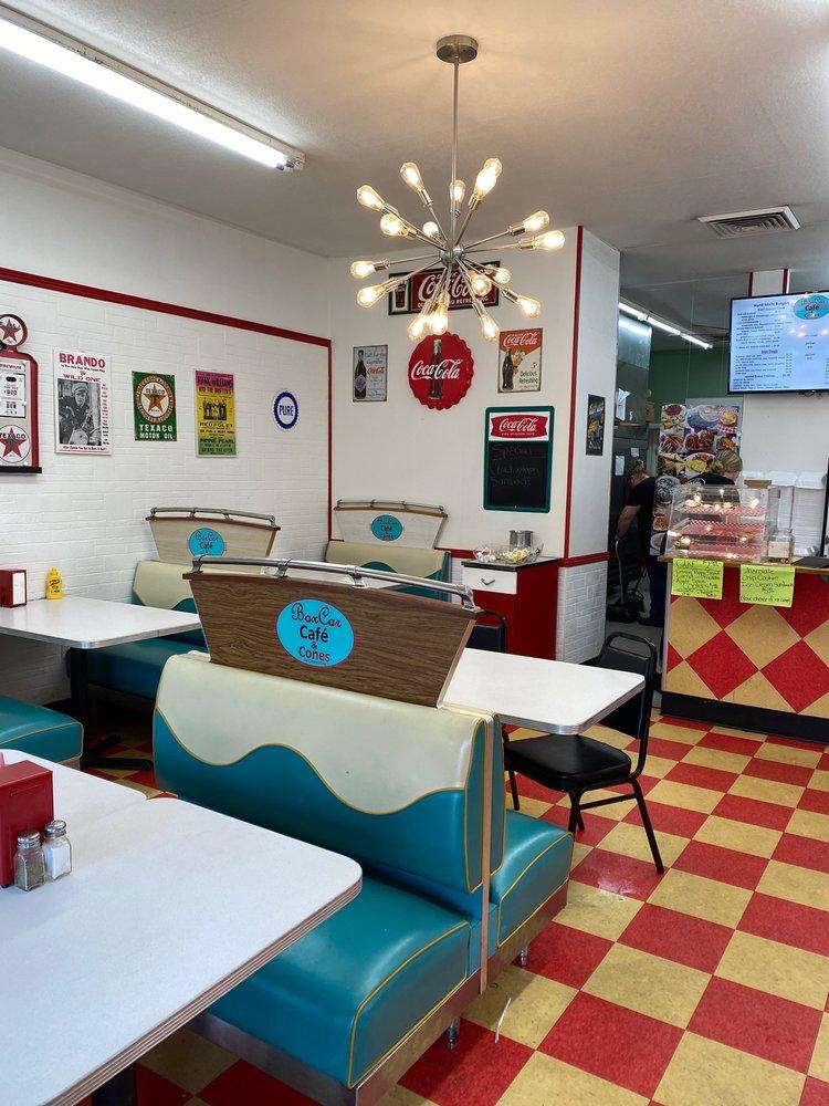 Box Car Cafe' & Cones: 26 Fry St, Bryson City, NC