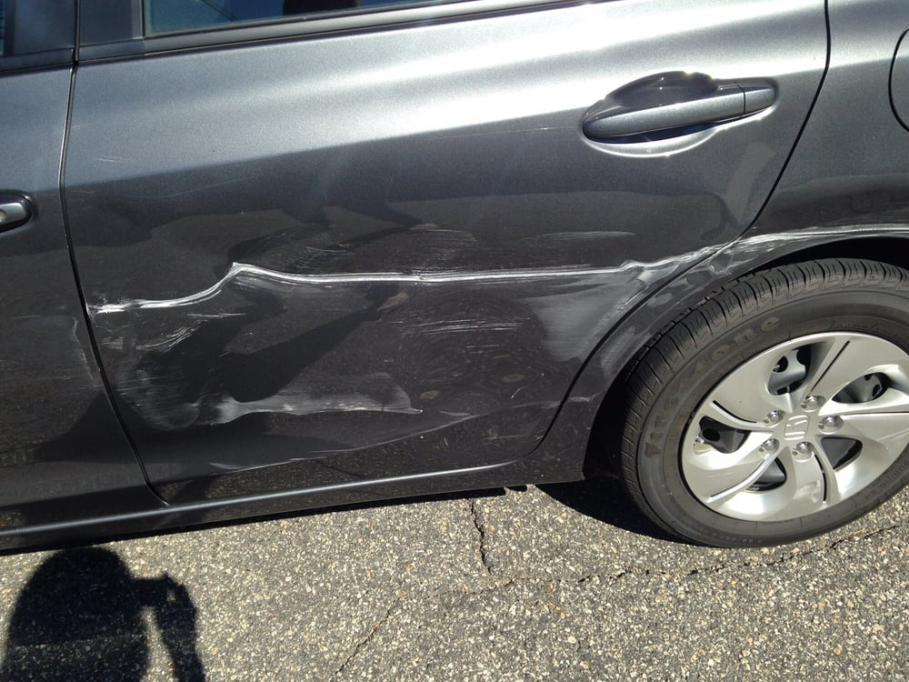 a small portion of the damage whole left side of the car was messed up yelp. Black Bedroom Furniture Sets. Home Design Ideas