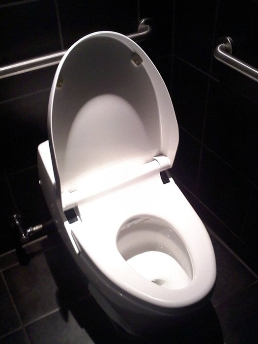 state of the art super toilet with integrated bidet and heated ...