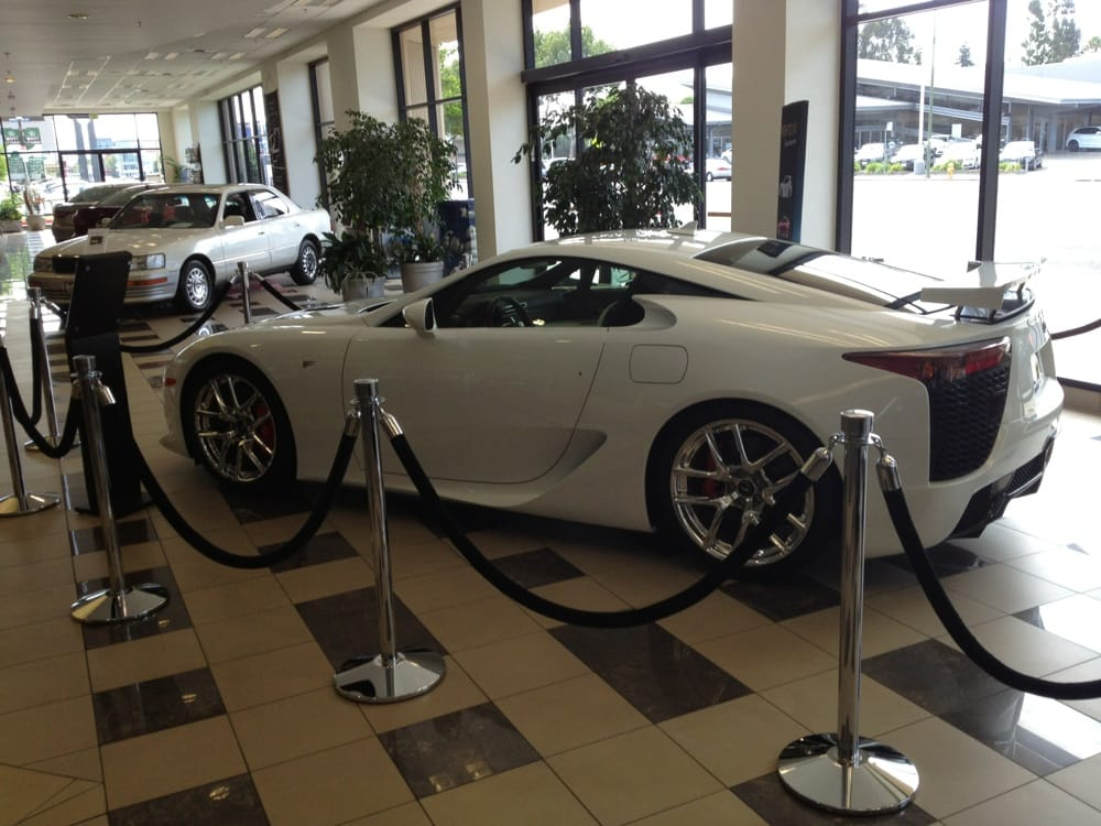 enjoying the view lexus lfa in showroom at lexus of stevens creek yelp. Black Bedroom Furniture Sets. Home Design Ideas