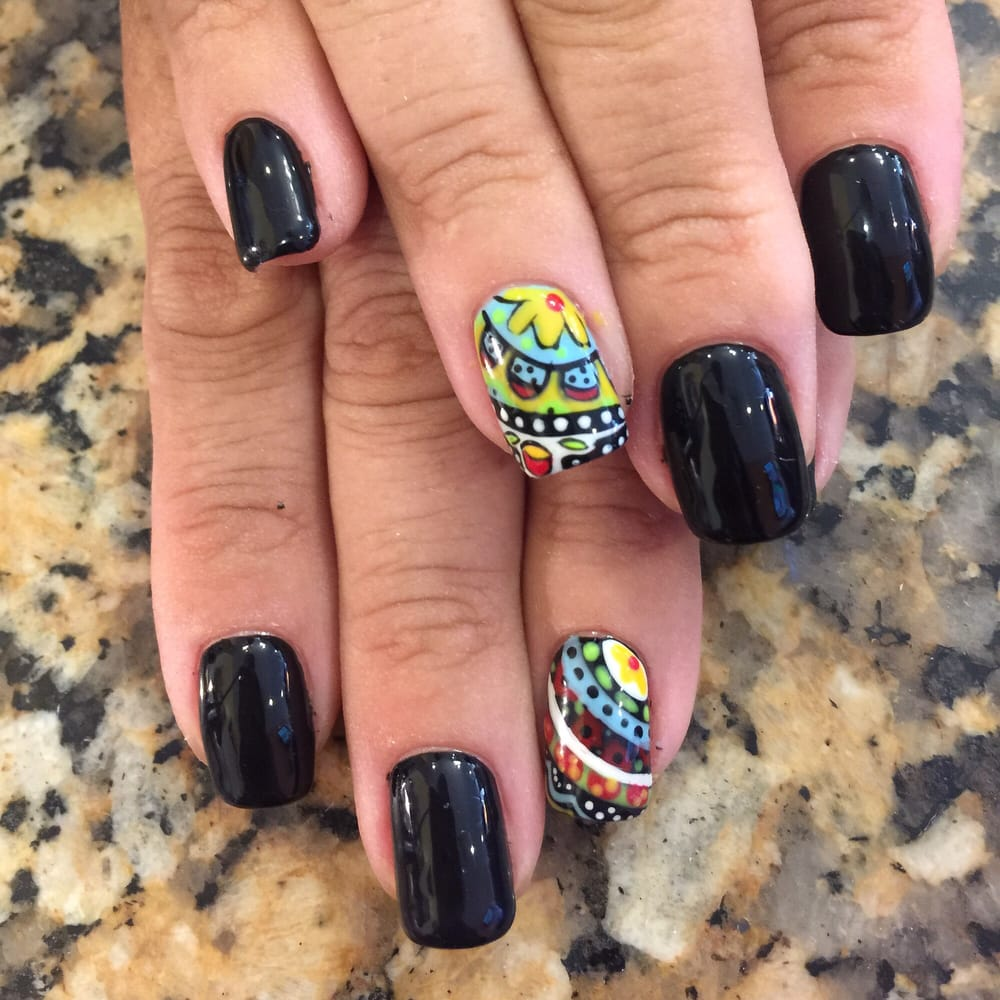 Mexican Folk Art Nails By Jane Yelp